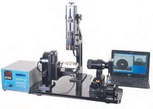 Medidor de Ângulo por Contato com suporte rotativo, distribuidor automático e controle de temperatura